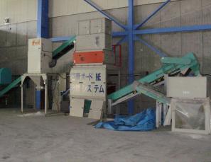 石膏ボード処理機