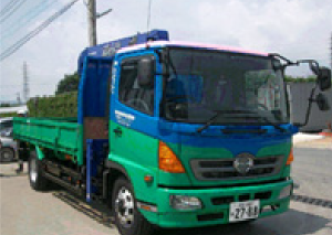 移動式クレーン付きトラック